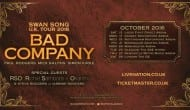 Bad Company Announce 2016 'Swan Song' UK Arena Shows - Tickets